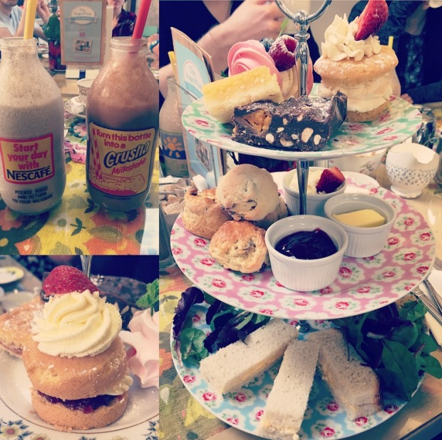 cakes, tea, milkshake image