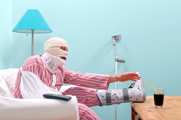 Badly injured man recovering at home
